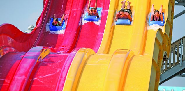 Check out countless water parks near Myrtle Beach on your next family vacation.